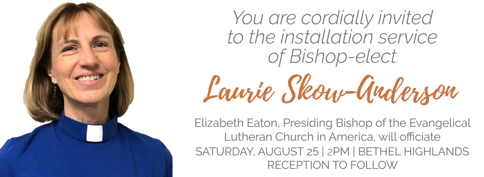 Installation of Bishop-elect, Laurie Skow-Anderson