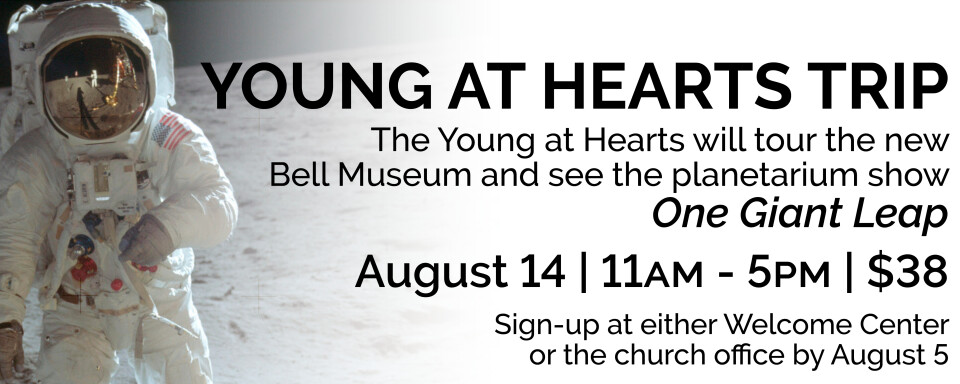 """Young at Hearts Trip to the Bell Museum to see """"One Giant Leap"""""""