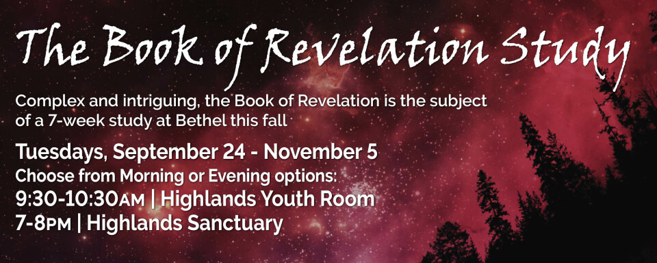 The Book of Revelation Study (Morning class option)