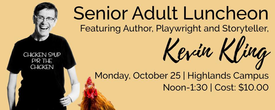 Senior Adult Luncheon, Monday, October 25, 2021